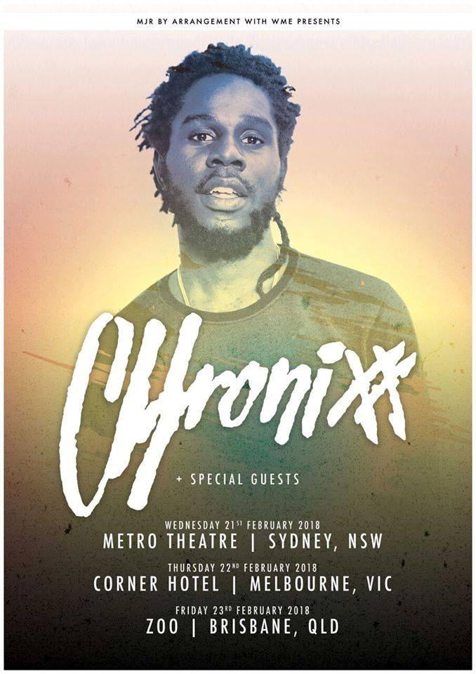 Carib Voxx, Chronixx, Zincfence Redemption band, Chronixx first tour of 2018, Chronixx tours Australia and New Zealand,